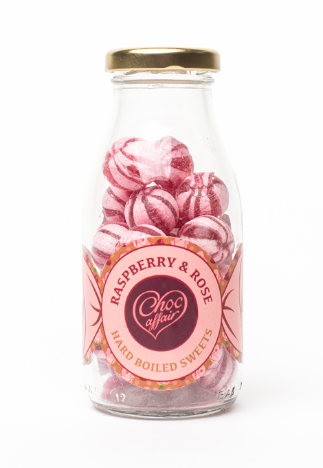 Boiled sweets - raspberry and rose