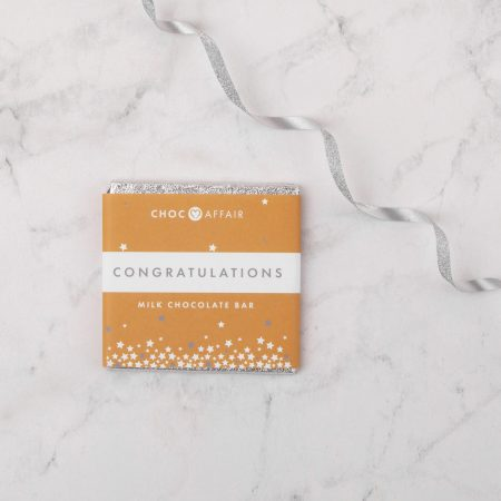 Congratulations milk chocolate greetings bar