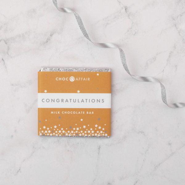 Congratulations milk chocolate greetings bar