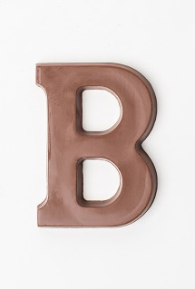 Chocolate letter B