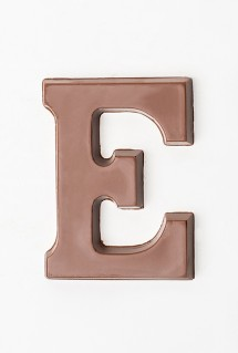 Milk chocolate letter E