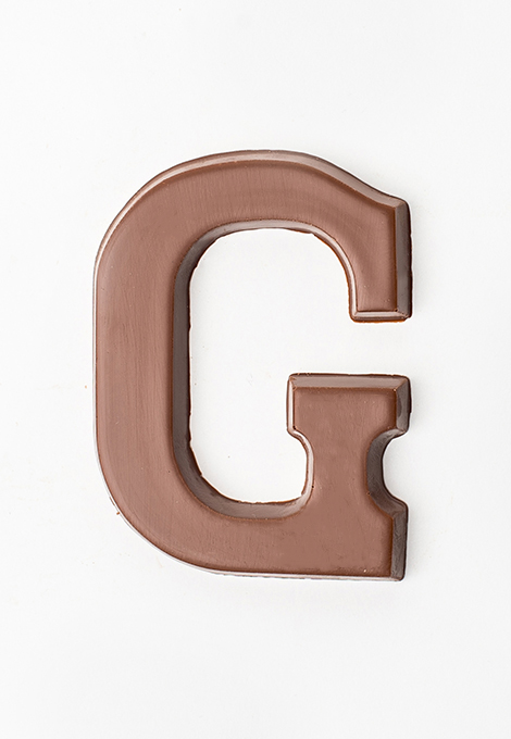 milk chocolate letter G