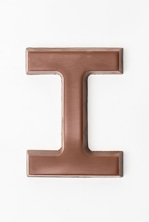 Chocolate letter I