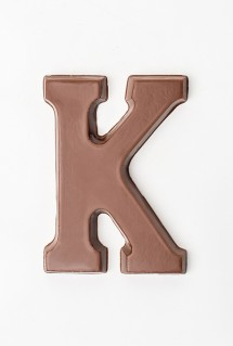 Chocolate letter K