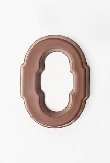 Milk chocolate letter O