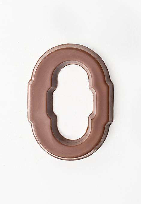 Milk chocolate letter O