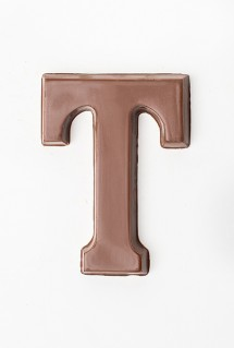 chocolate letter T