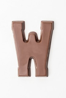Milk chocolate letter W