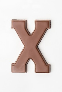 milk chocolate letter X