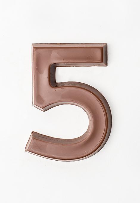 Milk chocolate numbers