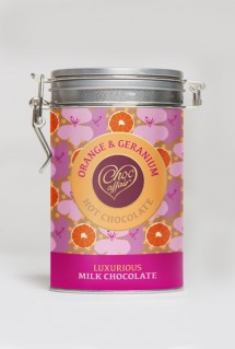 Best drinking chocolate ever-Orange & geranium drinking chocolate