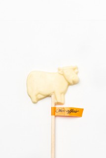 White chocolate cow
