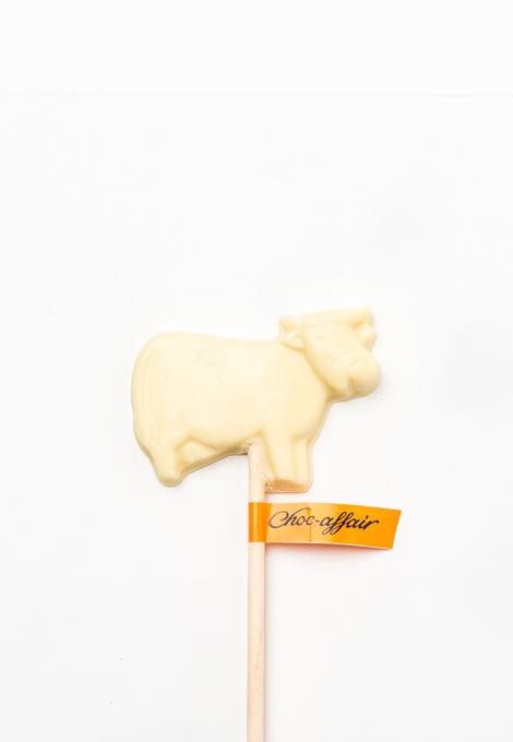 White chocolate cow