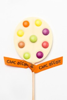 White chocolate lolly