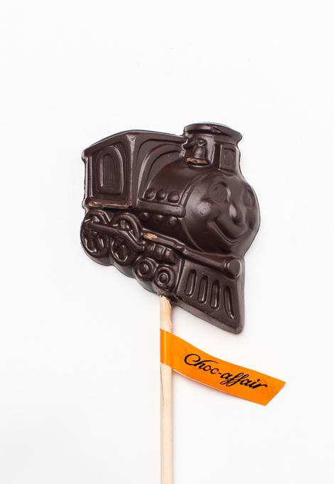 Chocolate train lolly