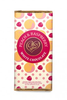 Peach & raspberry chocolate