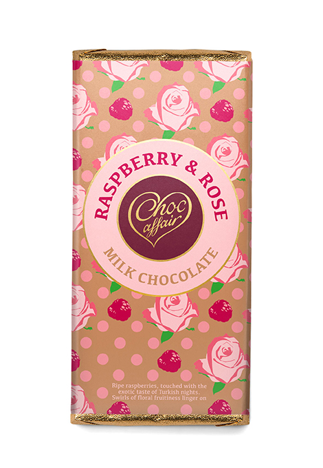 Raspberry & rose chocolate