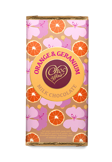 Orange & geranium chocolate