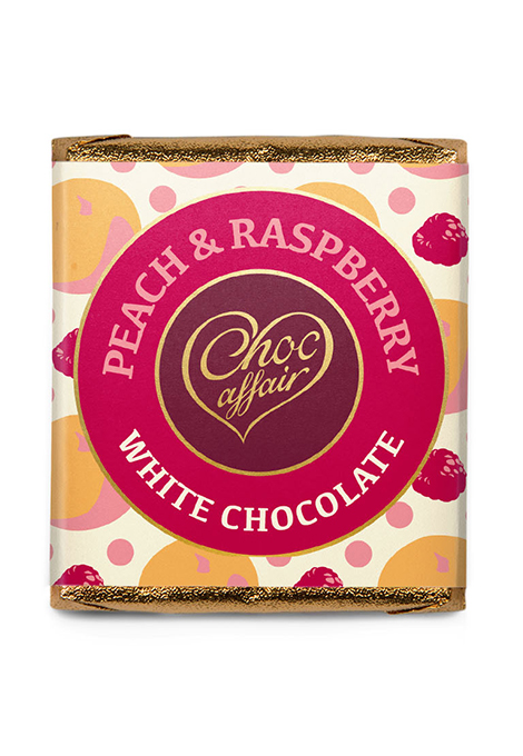 small peach and raspberry choc bar