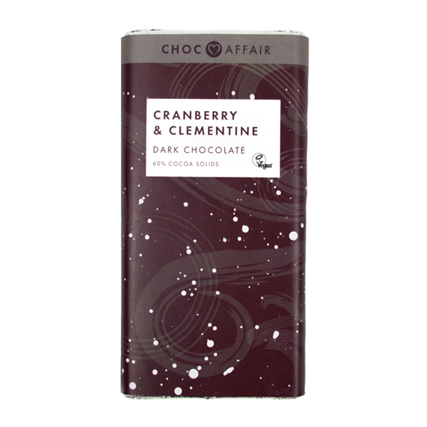 Cranberry and Clementine Dark Chocolate Bar