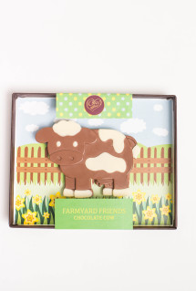 Handmade chocolate cow, in it's own presentation box.