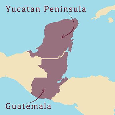 Choc affair chocolate. Aztec Mayan History. Yucatan Peninsula to Guatemala