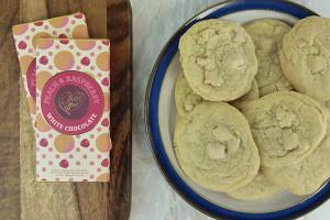 cookies choc affair peach and raspberry