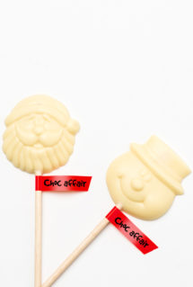 White chocolate christnas lolies
