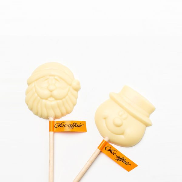 White Chocolate Chocolate Santa & Snowman Lolly