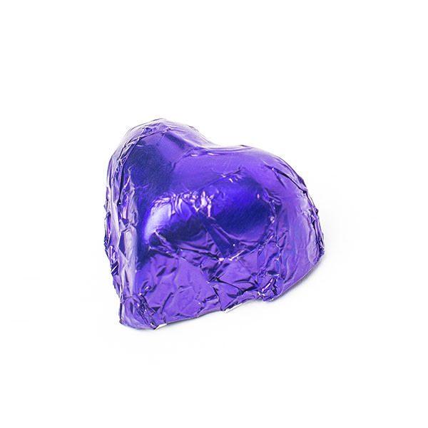 Choc Affair Chocolate Hearts Purple