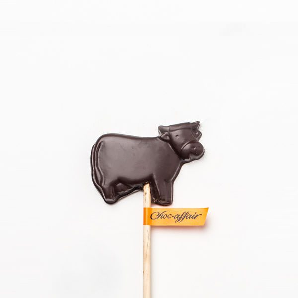 Dark Chocolate Dinosaur Cow Lolly