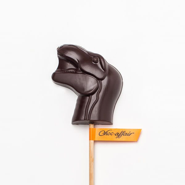 Dark Chocolate Dinosaur Trex Lolly