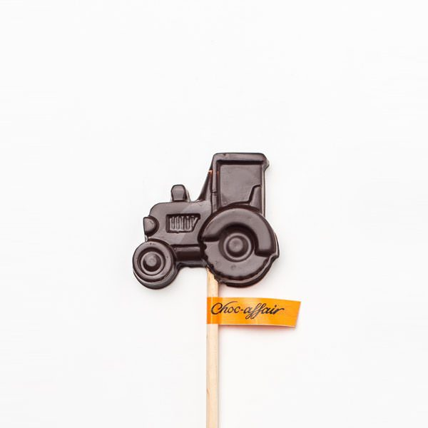 Dark Chocolate Tractor Lolly