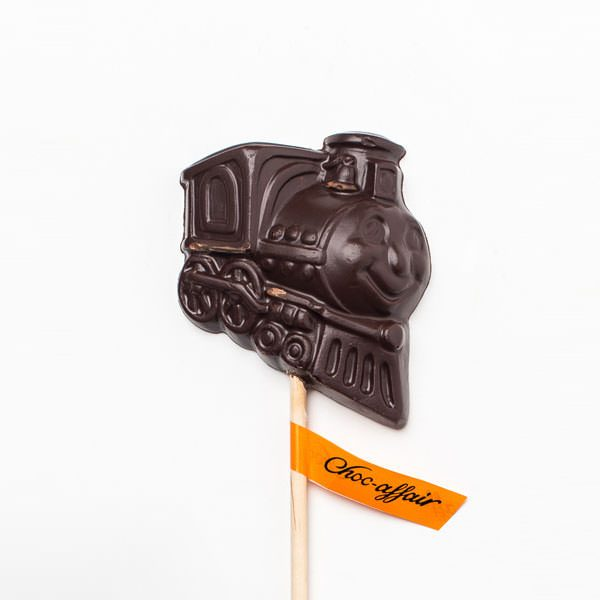 Dark Chocolate Train Lolly