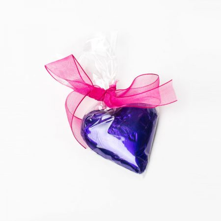 Choc Affair Large Chocolate Heart Purple