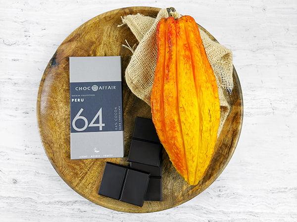 64% Peru Single Origin Dark Chocolate Bar