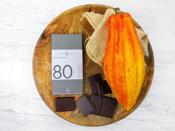 80% Uganda Single Origin Dark Chocolate Bar
