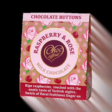 Choc Affair Chocolate Buttons Raspberry Rose