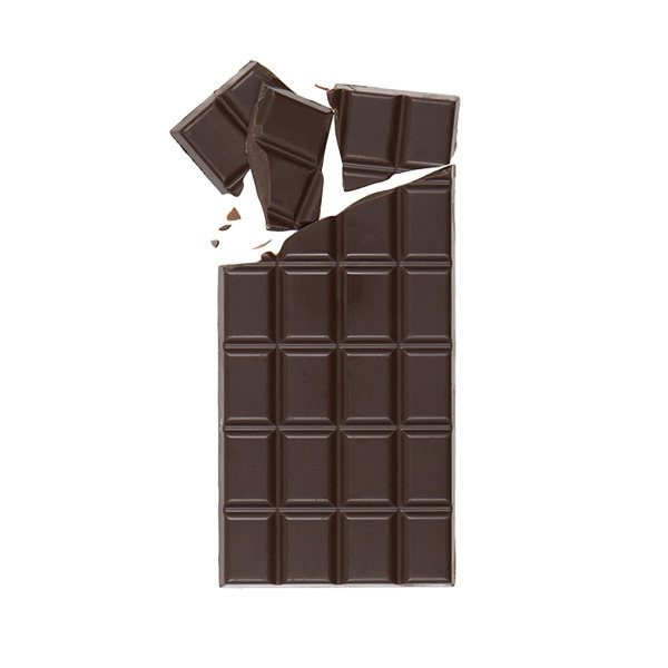 Dark Chocolate Bar Broken