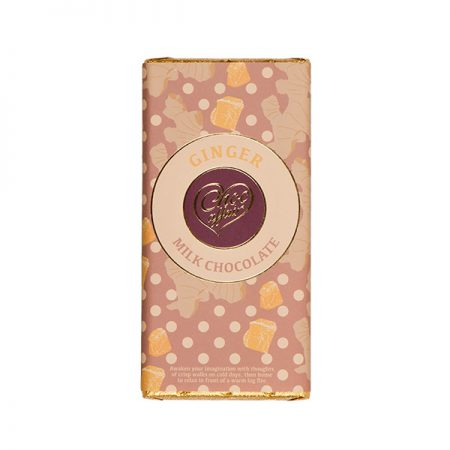 Ginger Flavoured Milk Chocolate Bar
