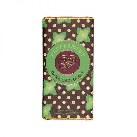 Peppermint Flavoured Dark Chocolate Bar