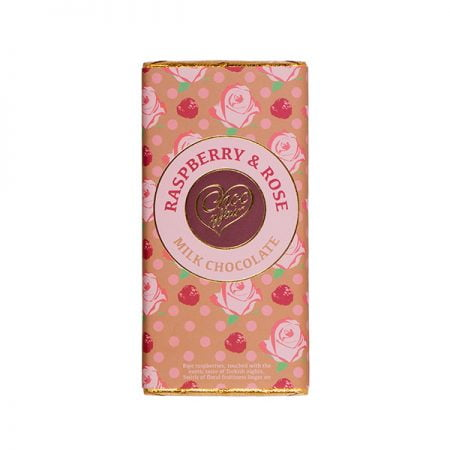 Raspberry & Rose Milk Chocolate Bar