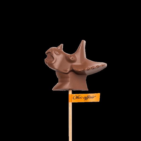Milk Chocolate Dinosaur Triceratops Lolly