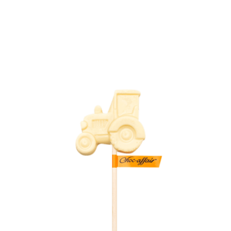 White Chocolate Tractor Lolly