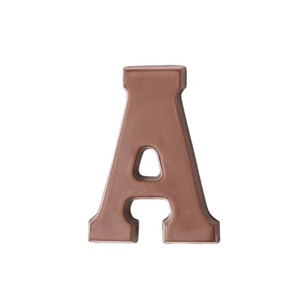 Choc Affair Milk Chocolate Letter A