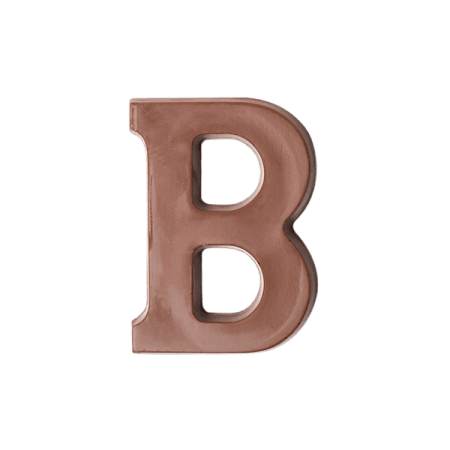 Choc Affair Milk Chocolate Letter B