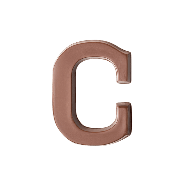 Choc Affair Milk Chocolate Letter C