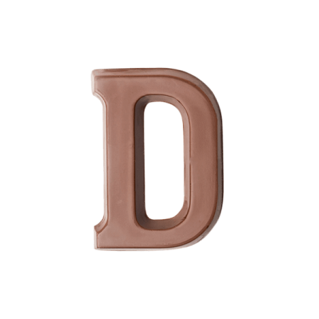 Choc Affair Milk Chocolate Letter D