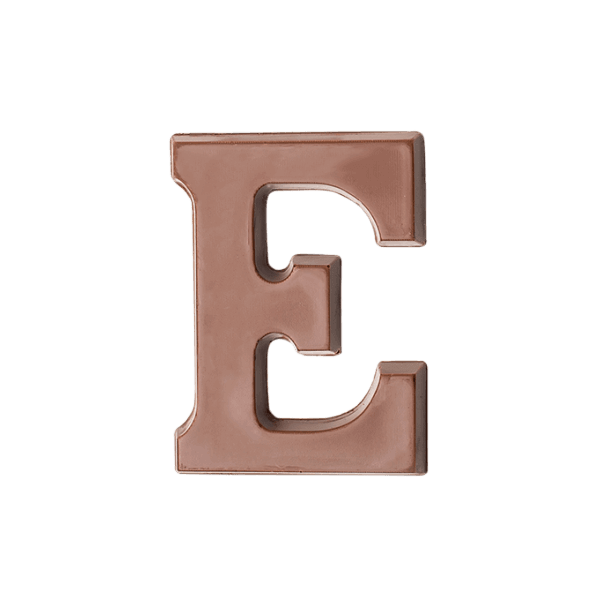 Choc Affair Milk Chocolate Letter E
