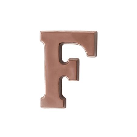 Choc Affair Milk Chocolate Letter F